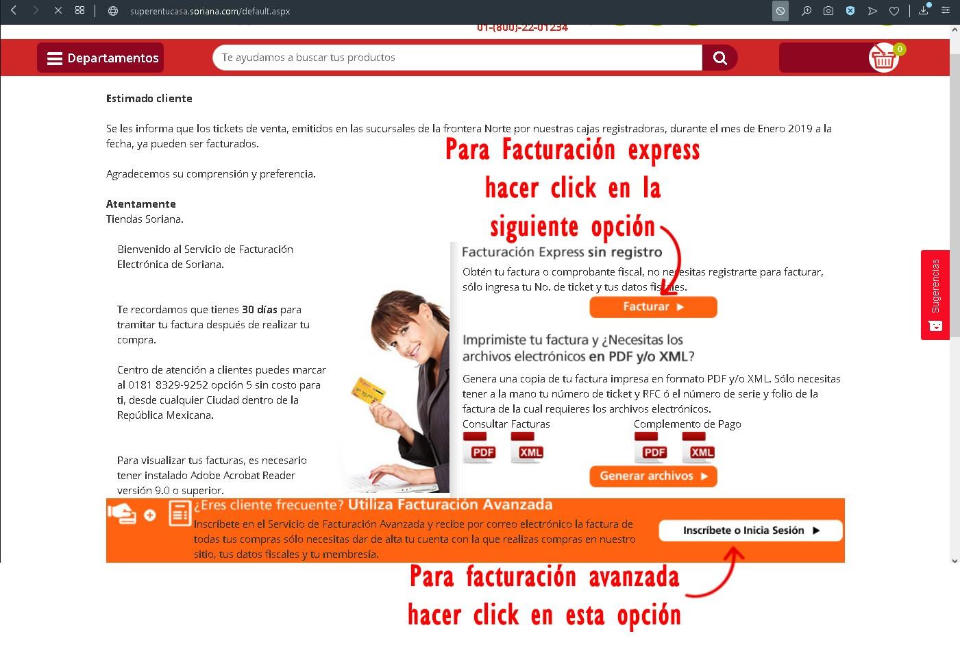 facturacion soriana express